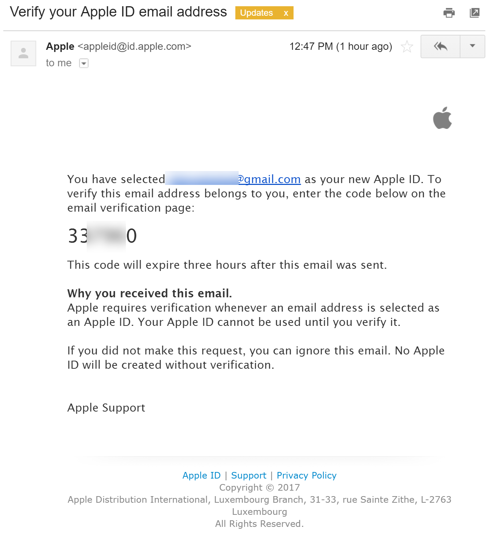 Distinct Apple IDs for the same GMail account – Dorin Moise