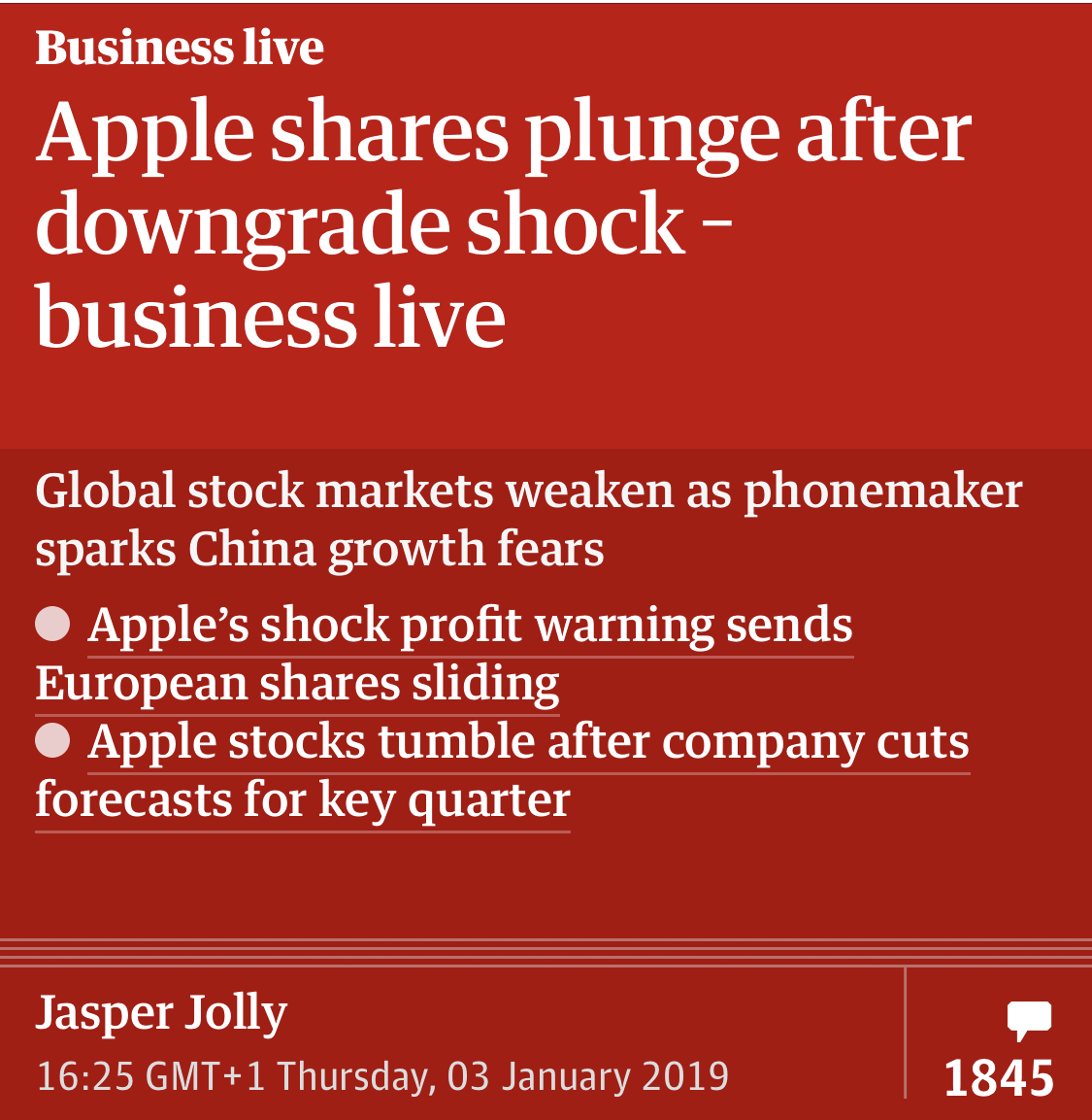 Stock news is almost never breaking news
